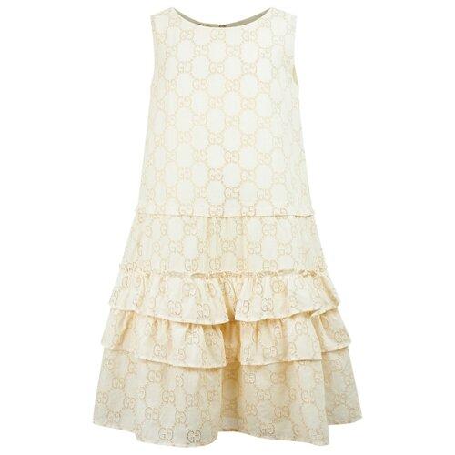 gucci однотонное платье Платье GUCCI размер 128, кремовый