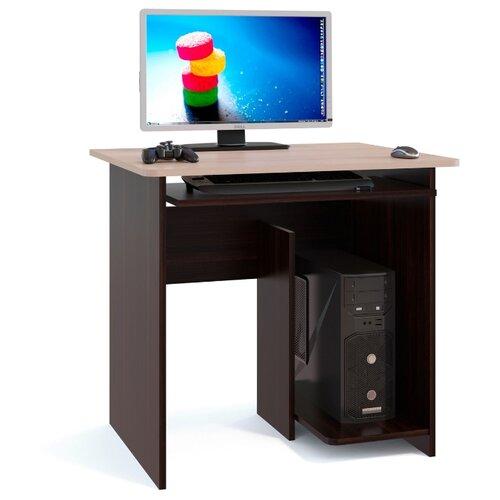 Компьютерный стол СОКОЛ КСТ-21.1, ШхГ: 80х60 см, цвет: венге/беленый дуб