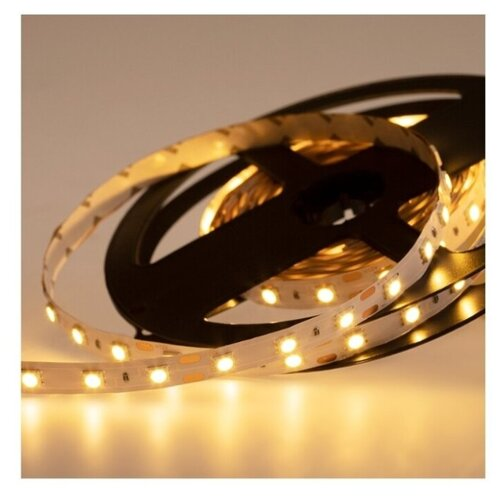 Светодиодная LED лента LAMPER теплый белый свет, 5 м, IP23, 12 В, SMD 5050