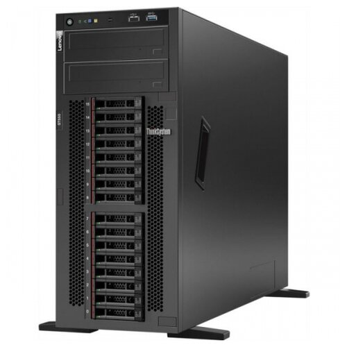 "Сервер Lenovo ThinkSystem ST550 7X10A0CWEA 1 x Intel Xeon Silver 4208 2.1 ГГц/16 ГБ DDR4/без накопителей/количество отсеков 3.5"" hot swap: 8/1 x 750 Вт/LAN 1 Гбит/c"