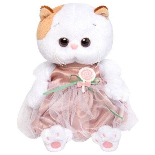 Купить Мягкая игрушка Basik&Co Кошка Ли-Ли baby в платье с леденцом 20 см, Мягкие игрушки