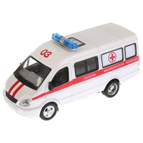 Микроавтобус Play Smart Автопарк 3221 Скорая помощь (9098-C) 20 см белый