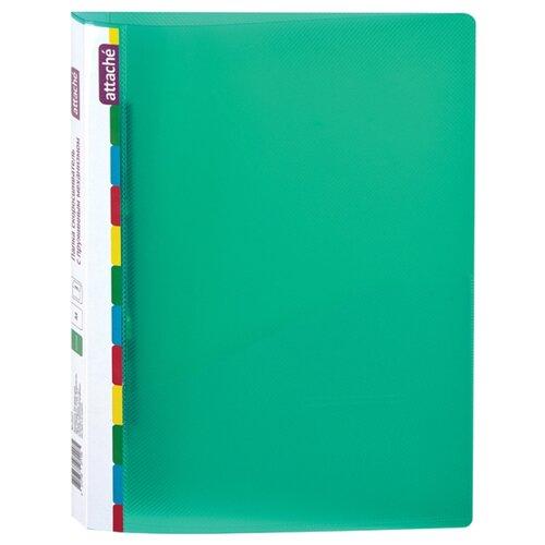 Купить Attache Папка-скоросшиватель с пружинным механизмом Diagonal А4, 600 мкм зеленый, Файлы и папки
