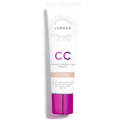 Lumene СС крем Абсолютное совершенство, SPF 20, 30 мл, оттенок: medium, 1 шт. cc крем lumene lumene lu021lwcmog0