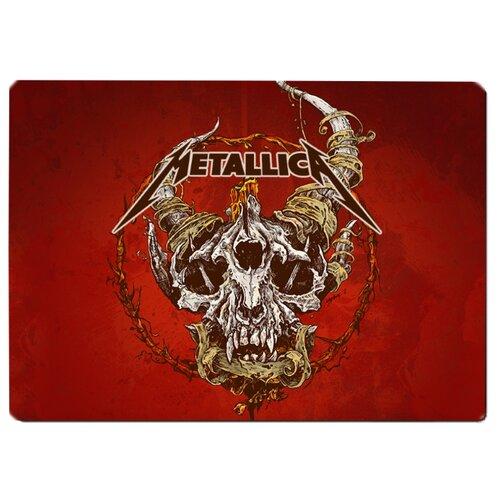 Коврик для мыши Metallica Череп на красном