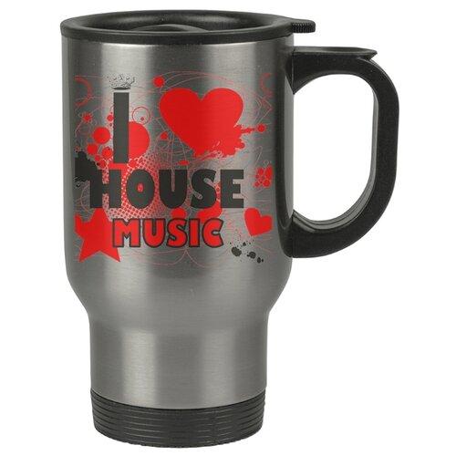 Автомобильная термокружка I love house music