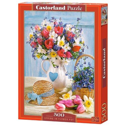 Купить Пазл Castorland Spring in Flower Pot (B-53520), 500 дет., Пазлы