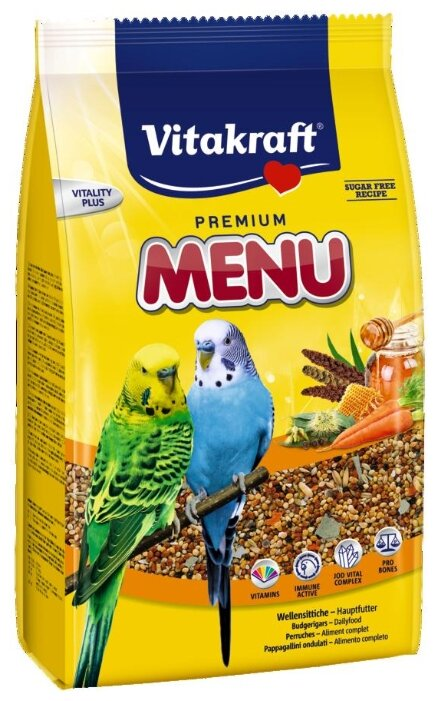 Vitakraft Корм для волнистых попугайчиков Menu vital 1000 г