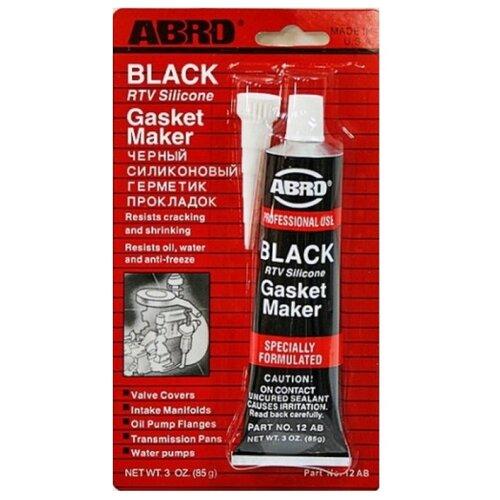 Универсальный силиконовый герметик для ремонта автомобиля ABRO 12-AB, 0.085 кг черный