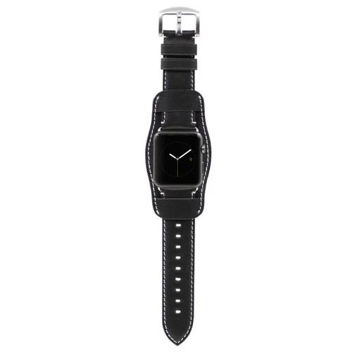 Kajsa Ремешок кожаный Retro Collection для Apple Watch 38/40 mm черный