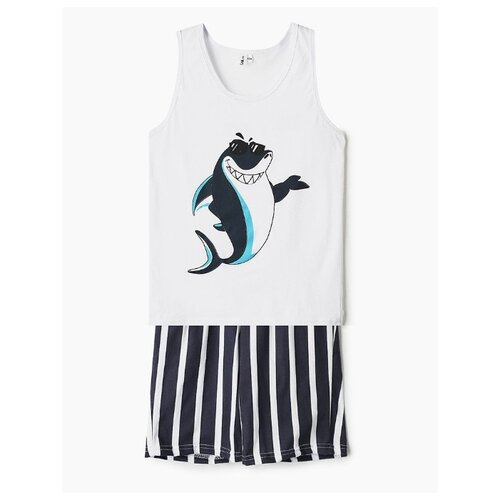Купить Комплект одежды Elaria размер 134, белый/синий, Комплекты и форма