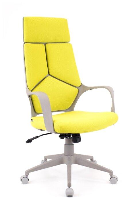 Кресло руководителя офисное Everprof Trio Grey TM Ткань Оранжевый