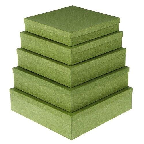 Набор подарочных коробок Мишель Фокс Ковролин №14, 5 шт зелeный