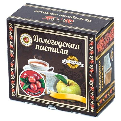 Пастила Вологодская мануфактура с клюквой без сахара, 115 г
