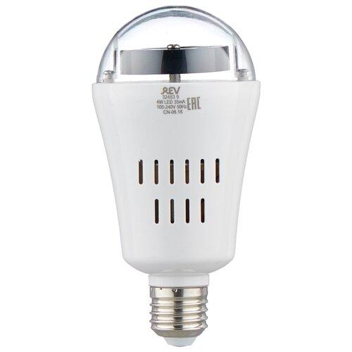 Лампа светодиодная REV Disco RGB, E27, A60, 4Вт лампа светодиодная e27 4вт 220в 2200k 11681
