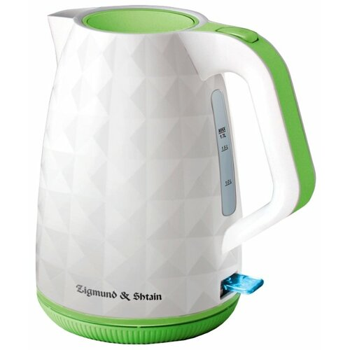 Чайник Zigmund & Shtain KE-619, белый/зеленый