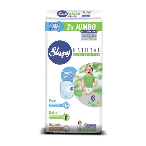 Sleepy трусики Natural Ultra Sensitive 6 (15-25 кг) 40 шт.