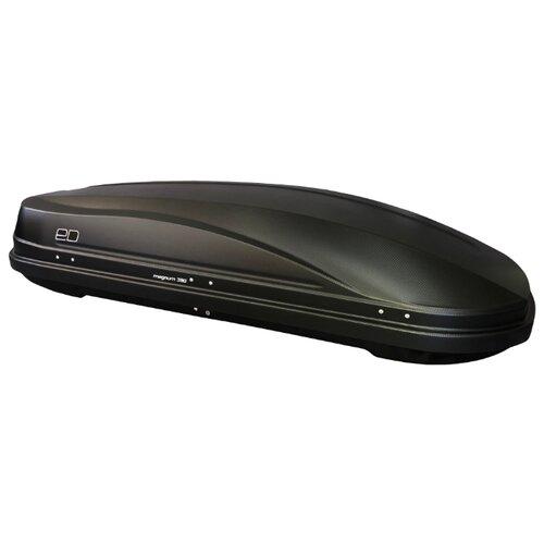 Багажный бокс на крышу Евродеталь Магнум 390 (390 л) черный карбон