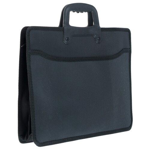 Купить Calligrata Папка-портфель А4 1 отделение c ручкой на молнии (413253) черный, Файлы и папки
