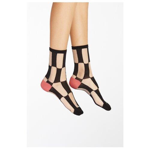 Капроновые носки Nothing but Love 292661, размер 35-39, черный/серебристый/розовый ремень корсет nothing but love цвет черный 203272 размер универсальный