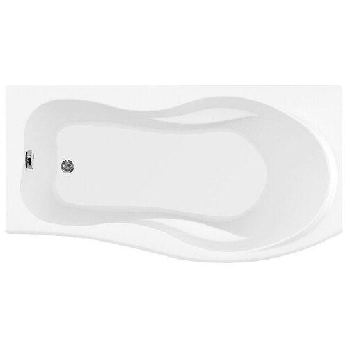 Ванна Aquanet Borneo 170x75(90) без гидромассажа акрил угловая правосторонняя ванна из искусственного камня jacob delafon elite 170x75 с щелевидным переливом e6d031 00 без гидромассажа