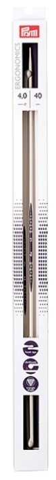 Спицы Prym полимерные Ergonomics (2шт) диаметр 4 мм, длина 40 см