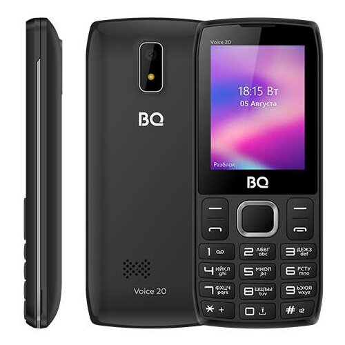 Телефон BQ 2400L Voice 20 темно-серый телефон
