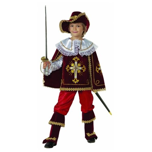 Купить Костюм Батик Мушкетер Короля (909/910), бордо, размер 158, Карнавальные костюмы