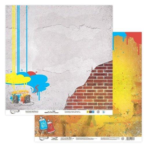 Купить Бумага Mr. Painter 30, 5x30, 5 см, 10 листов, PSR 190905 Ритм города №6 серый/желтый, Бумага и наборы