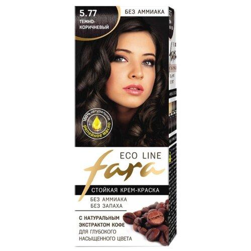 Fara Eco Line стойкая крем-краска для волос, 5.77 темно-коричневый