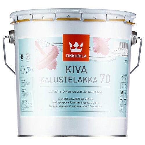 Лак Tikkurila Kiva 70 полиакриловый бесцветный 2.7 л лак акрилатный tikkurila kiva 70 ep глянцевый 0 9 л