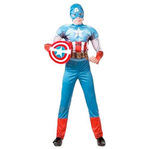 Купить Костюм Батик Капитан Америка (5091), красный/голубой/белый, размер 128, Карнавальные костюмы