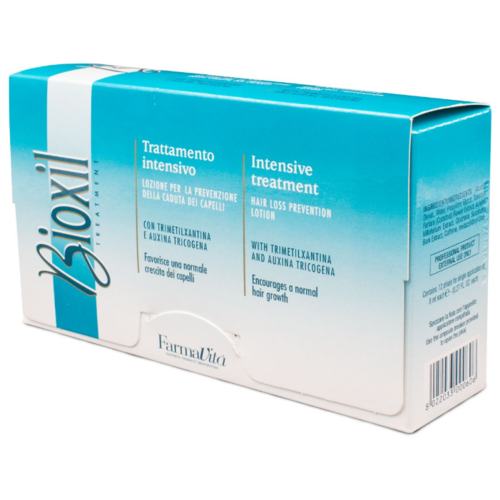 FarmaVita BIOXIL Дерматологически активный лосьон против выпадения волос для волос и кожи головы, 8 мл, 12 шт. ducray неоптид лосьон от выпадения волос для мужчин 100 мл