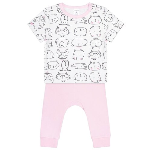 Фото - Комплект одежды crockid размер 74, белый/розовый комплект одежды crockid размер 74 белый розовый