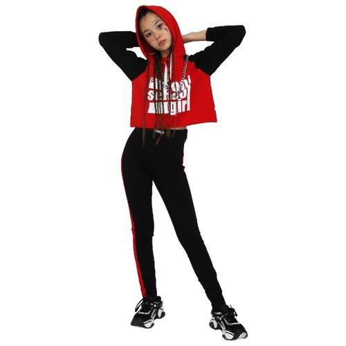 Купить Спортивный костюм Nota Bene размер 158, черный/красный, Спортивные костюмы