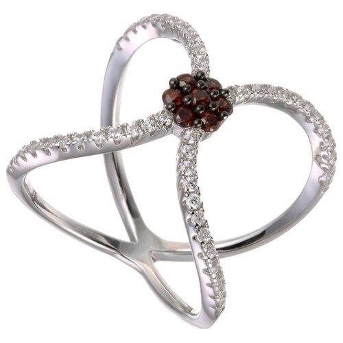 JV Кольцо с фианитами из серебра WR24173-BM-001-WG, размер 17 jv женское серебряное кольцо с куб циркониями в позолоте wr22790 bm 001 vr 16 5