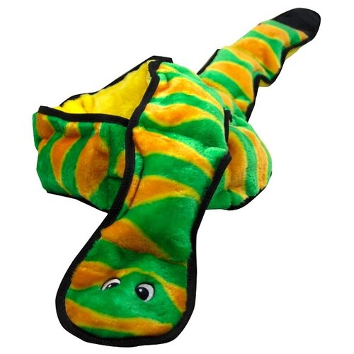 OH игрушка для собак Invinc Mini Змея очень большая 12 пищалок