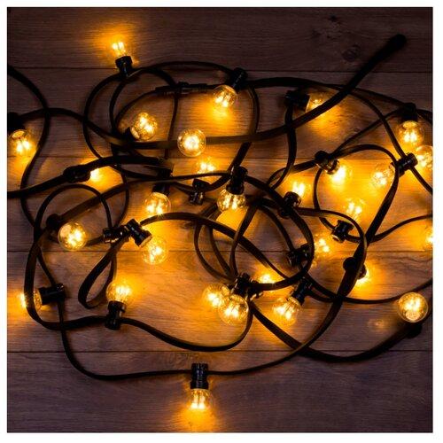 Фото - Гирлянда NEON-NIGHT LED Galaxy Bulb String, 331-321, 1000 см, 30 ламп, желтый/черный провод гирлянда neon night твинкл лайт 100 led 1000 см 100 ламп синий черный провод