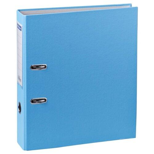 Купить OfficeSpace Папка-регистратор с карманом на корешке A4+, бумвинил, 70 мм голубой, Файлы и папки