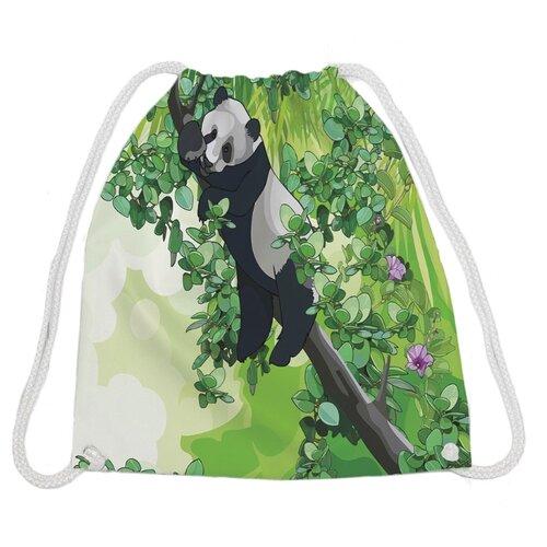 Купить JoyArty Сумка-рюкзак Панда (bpa_27666) зеленый, Мешки для обуви и формы