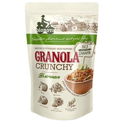 гранола lizi s с орехами и семечками без глютена пакет 400 г Гранола Bionova Яблочная без сахара, 400 г