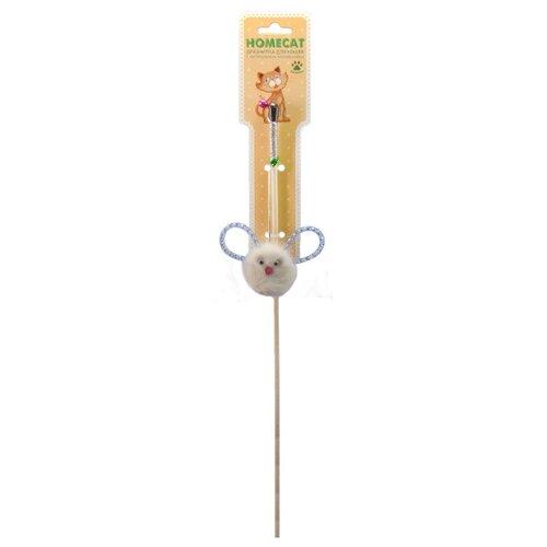 Дразнилка для кошек Homecat Зверек из норки с пружинками игрушка для кошек homecat дразнилка лапка из норки с лентами 71133 1 шт