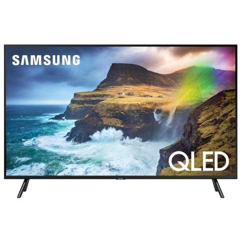 Фото - Телевизор QLED Samsung QE82Q77RAU 82 (2019) черный графит телевизор qled samsung qe49q77rau 49 2019 черный графит