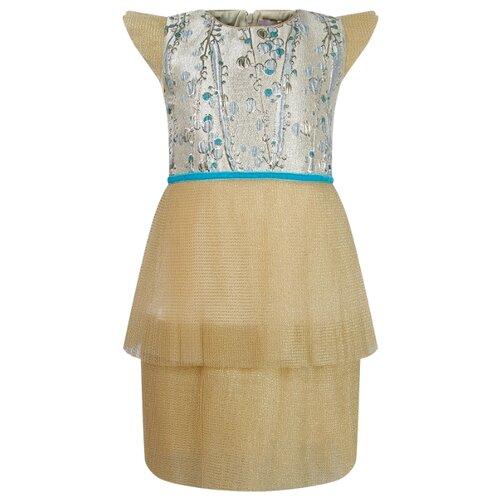 Платье EIRENE размер 146, золотой skrab 20592