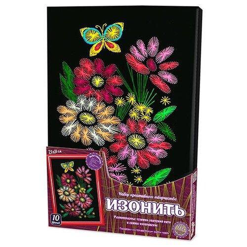 Купить Danko Toys Набор для вышивания Изонить Букет 21 х 31 см (IZO-01-02), Наборы для вышивания
