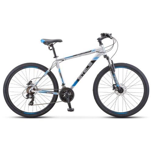 Фото - Горный (MTB) велосипед STELS Navigator 700 D 27.5 F010 (2020) серебристый/синий 19 (требует финальной сборки) горный mtb велосипед stels miss 5000 md 26 v010 2019 бирюзовый 17 требует финальной сборки