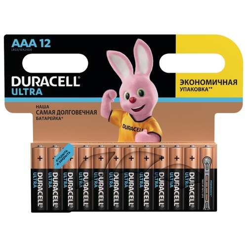 Фото - Батарейка Duracell Ultra Power AAA/LR03 12 шт блистер батарейка duracell ultra power aaa lr03 12 шт блистер