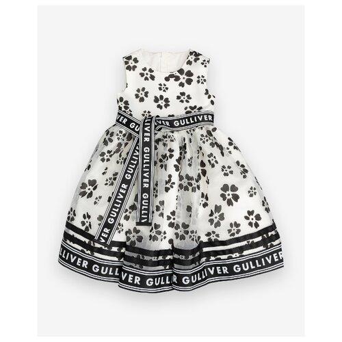 Платье Gulliver размер 116, белый платье oodji ultra цвет красный белый 14001071 13 46148 4512s размер xs 42 170