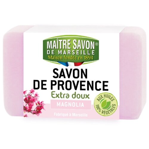 Мыло кусковое Maitre Savon de Marseille Магнолия, 100 г цена 2017
