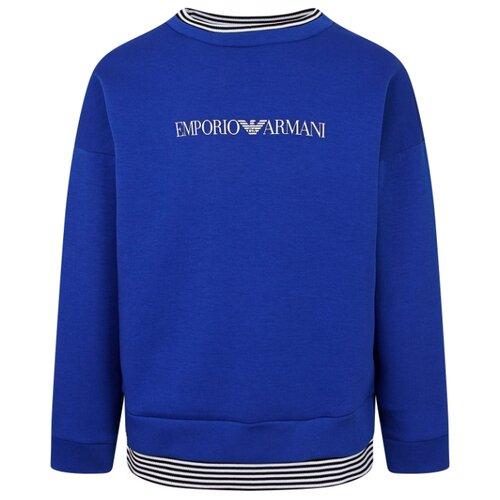 Свитшот EMPORIO ARMANI размер 128, синий рубашка emporio armani размер 128 синий